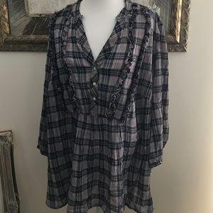 Plus Size Plaid Tommy Hilfiger Shirt
